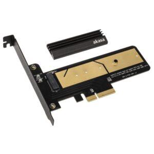 Conversor Akasa PCIe 3.0 x4 para M.2 NVMe (Com Dissipador)