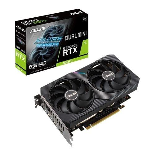 Placa Gráfica ASUS GeForce RTX3060 TI DUAL MINI V2 8GB DDR6 PCI-E 4.0 LHR