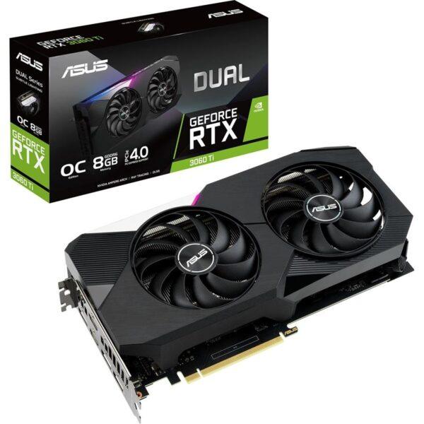 Placa Gráfica ASUS GeForce RTX3060 TI DUAL OC 8GB DDR6