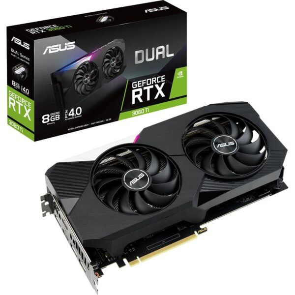 Placa Gráfica ASUS GeForce RTX3060 TI DUAL 8GB DDR6 PCI-E 3.