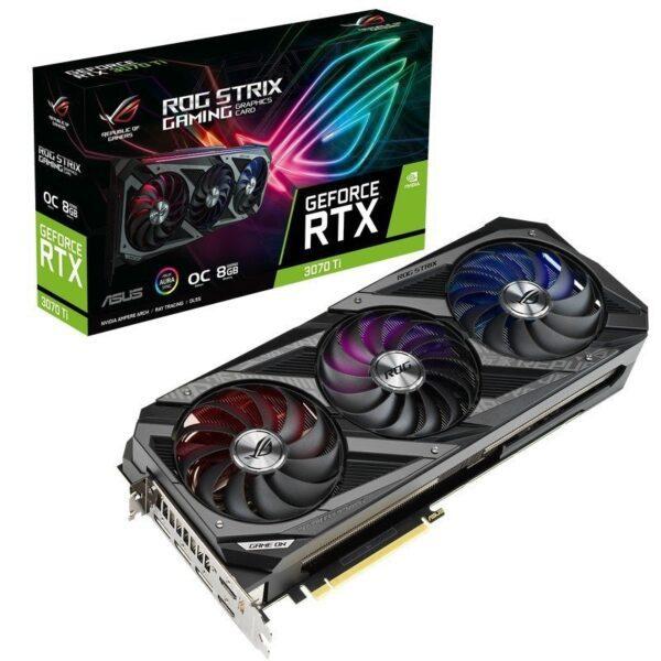Placa Gráfica ASUS GeForce RTX3070 TI ROG STRIX OC 8GB DDR6