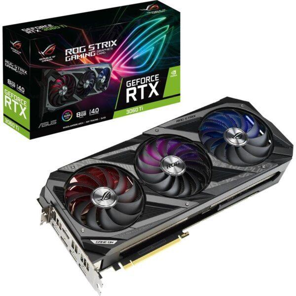 Placa Gráfica ASUS GeForce RTX3060 TI ROG STRIX GAMING 8GB