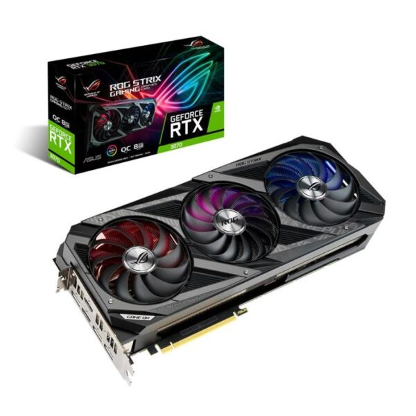 Placa Gráfica ASUS GeForce RTX 3070 ROG STRIX OC 8GB GDDR6