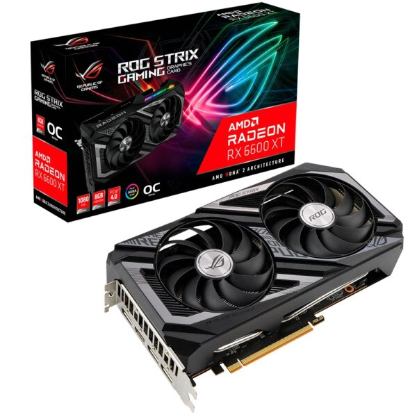 Placa Gráfica ASUS RADEON RX 6600 XT ROG STRIX 8GB OC DDR6 PCI-E 4.0