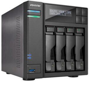 NAS ASUSTOR 4 baías P/ HDD 3.5 - AS6204T