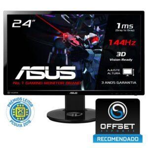 Monitor ASUS VG248QE TN 1ms 3D TFT 24 FullHD 144Hz Preto
