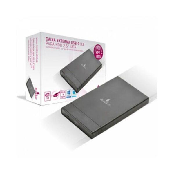 "Caixa Externa BLUERAY 2.5"" SATA USB Tipo-C Preto"