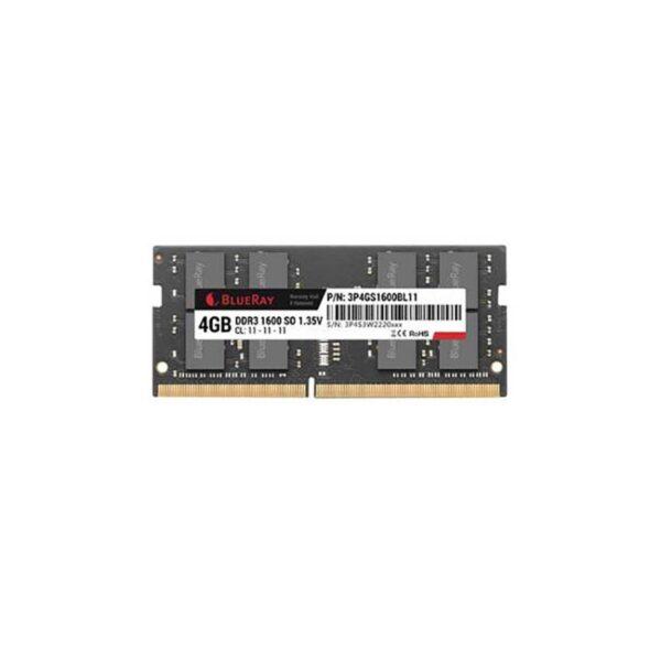 Memória SODIMM BLUERAY 4GB DDR3L 1.35V 1600MHz PC12800