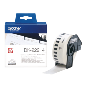 BROTHER Fita Etiquetas brancas 12mm 30,48m - DK22214