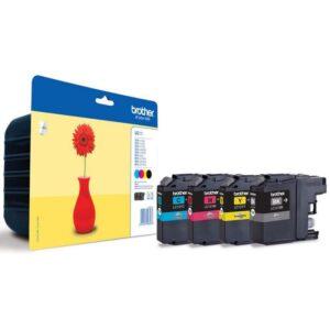 Tinteiro BROTHER LC121 Value Pack (Preto, Cyan, Magenta e Am