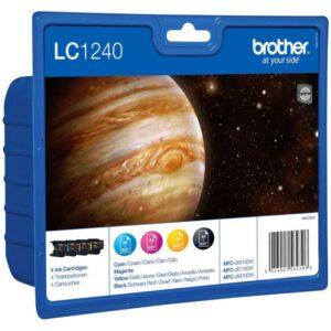 Tinteiro BROTHER LC1240 Value Pack (Preto, Cyan, Magenta e A