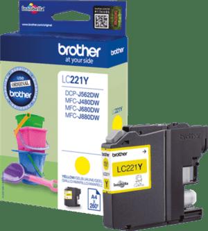 Tinteiro BROTHER LC221Y Amarelo