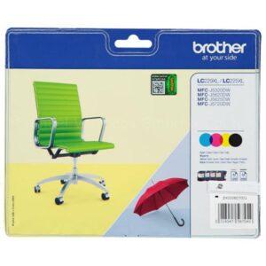 Tinteiro BROTHER LC229XL Value Pack (Preto, Cyan, Magenta e