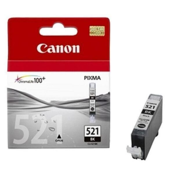 TINTEIRO CANON CLI-521BK Preto - 2933B008