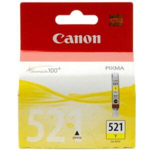 TINTEIRO CANON CLI-521Y Amarelo - 2936B008