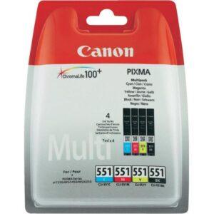 TINTEIRO CANON CLI-551 C/M/Y/BK  Multi Pack 4 Cores - 6509B0