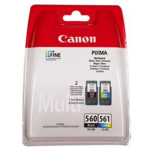 Tinteiro CANON PG-560 Preto+CL-561 Cores Multipack- 3713C005