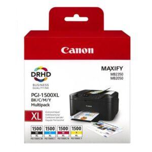 TINTEIRO CANON PGI-1500XL BK/C/M/Y Multipack - 9182B004