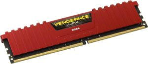 MEMÓRIA CORSAIR Vengeance LPX Red 8GB DDR4 2400MHz CL14