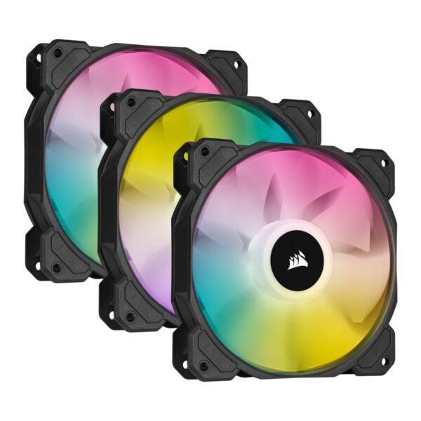Ventoinhas CORSAIR ELITE SP120 RGB PWM Preto (Triple Pack)