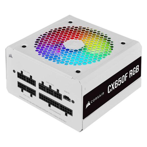 FONTE DE ALIMENTAÇÃO CORSAIR CX650F RGB Series 650W (Modular) White