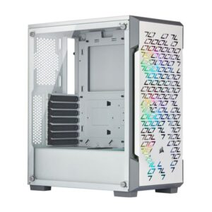 Caixa CORSAIR iCUE 220T RGB Vidro Temperado Branco