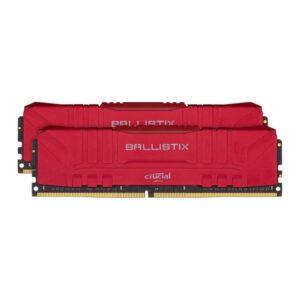 Memória CRUCIAL Ballistix 32GB 2X16GB DDR4 2666MHz CL16 Red