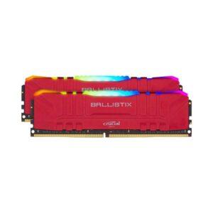 Memória CRUCIAL Ballistix RGB 16GB 2X8GB 3200MHz CL16 Red