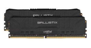 Memória CRUCIAL Ballistix Preto KIT 16GB 2X8GB DDR4 2400MHz