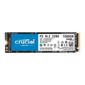 SSD CRUCIAL P2 1TB M.2 NVMe PCIe - CT1000P2SSD8