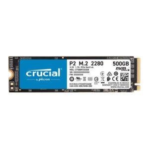 SSD CRUCIAL P2 500GB M.2 NVMe PCIe - CT500P2SSD8