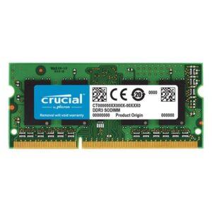 Memória CRUCIAL SODIMM 4GB DDR3 1600MHz PC12800 MAC - CT4G3S
