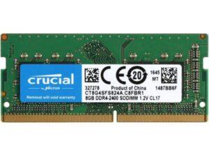 MEMÓRIA CRUCIAL SODIMM 8GB DDR4 2400MHz CL17 - CT8G4SFS824A