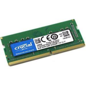 Memória CRUCIAL SODIMM 8GB DDR4 2400MHz CL17 - CT8G4S24AM