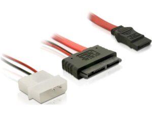 Adaptador DELOCK Slim SATA 16p F P/Molex+SATA 7p - 84384