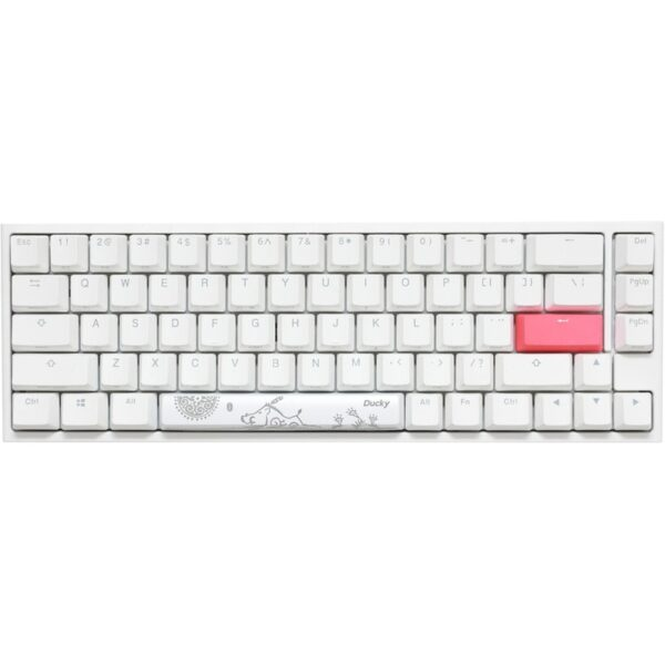 Teclado DUCKY One 2 SF 65% Pure White MX Silent Red RGB Mecânico ABS PT