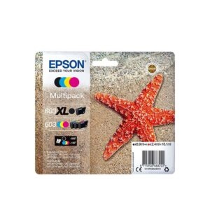 TINTEIRO EPSON 603 BK XL C/M/Y Multipack - C13T03A94020