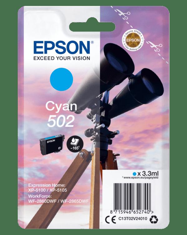 Tinteiro EPSON T02V2 (502) Cyan