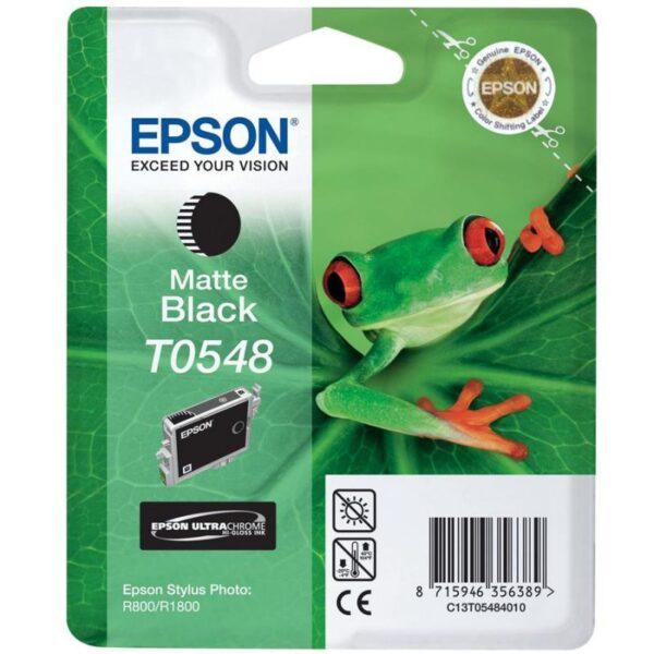 Tinteiro EPSON T0548 Preto Mate - C13T05484010