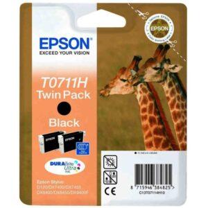 Tinteiro EPSON T0711H 2 Unidades Preto - C13T07114H10
