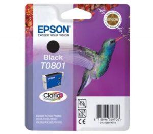 Tinteiro EPSON T0801 Preto - C13T080140