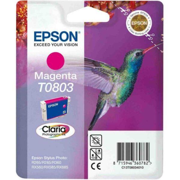 Tinteiro EPSON T0803 Magenta - C13T080340