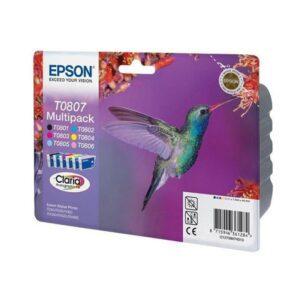 TINTEIRO EPSON T0807 BK/C/M/Y/LC/LM Multipack - C13T08074021