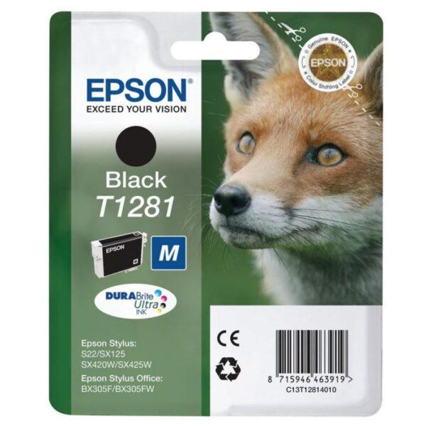 Tinteiro EPSON T1281 Preto - C13T12814010