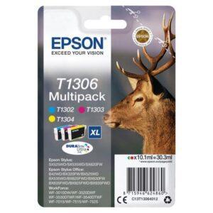 Tinteiro EPSON T1306 (13) C/M/Y Multipack - C13T13064012