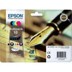 Tinteiro EPSON T1626 Quad Pack 4 Cores - C13T16264022