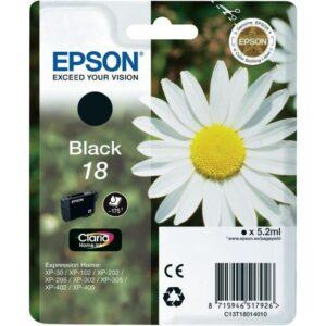 Tinteiro EPSON T1801 Preto - C13T18014010