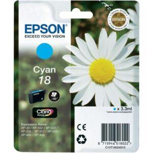 Tinteiro EPSON T1802 Cyan - C13T18024010