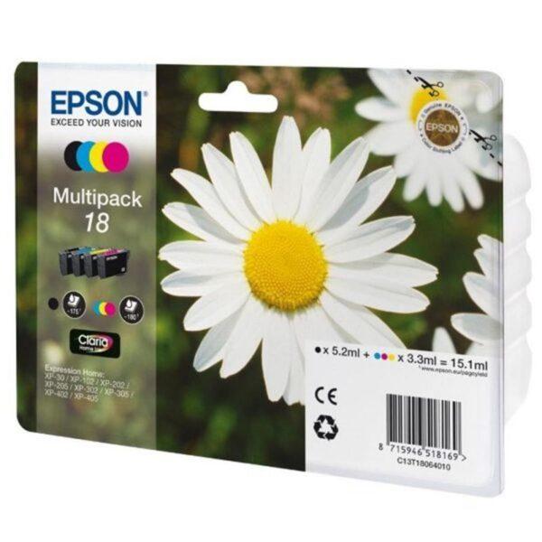 Tinteiro EPSON T1806 C/M/Y/BK  Multi Pack 4 Cores - C13T1806