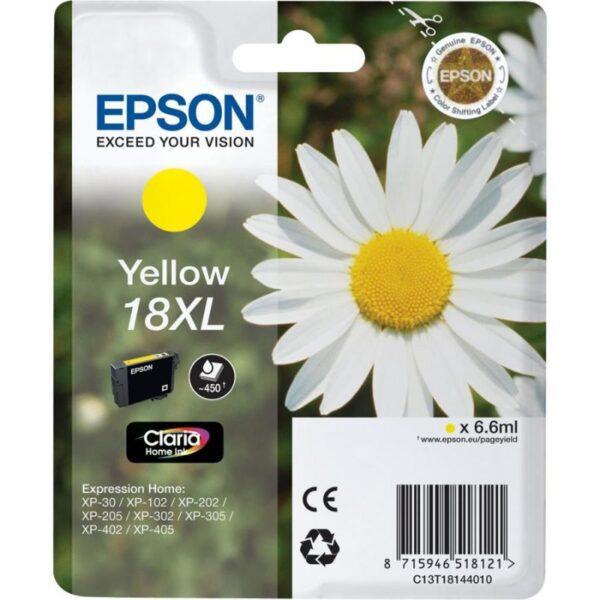 Tinteiro EPSON T1814 XL Amarelo - C13T18144010